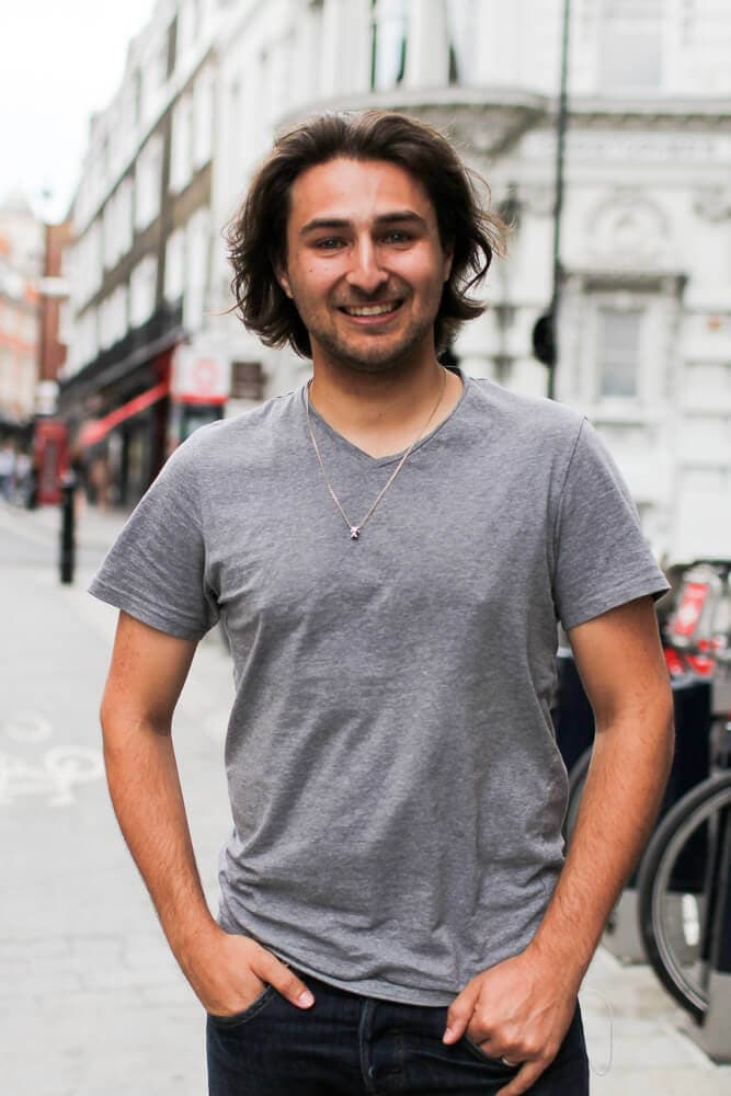 Image of Josh standing outside Somerset House