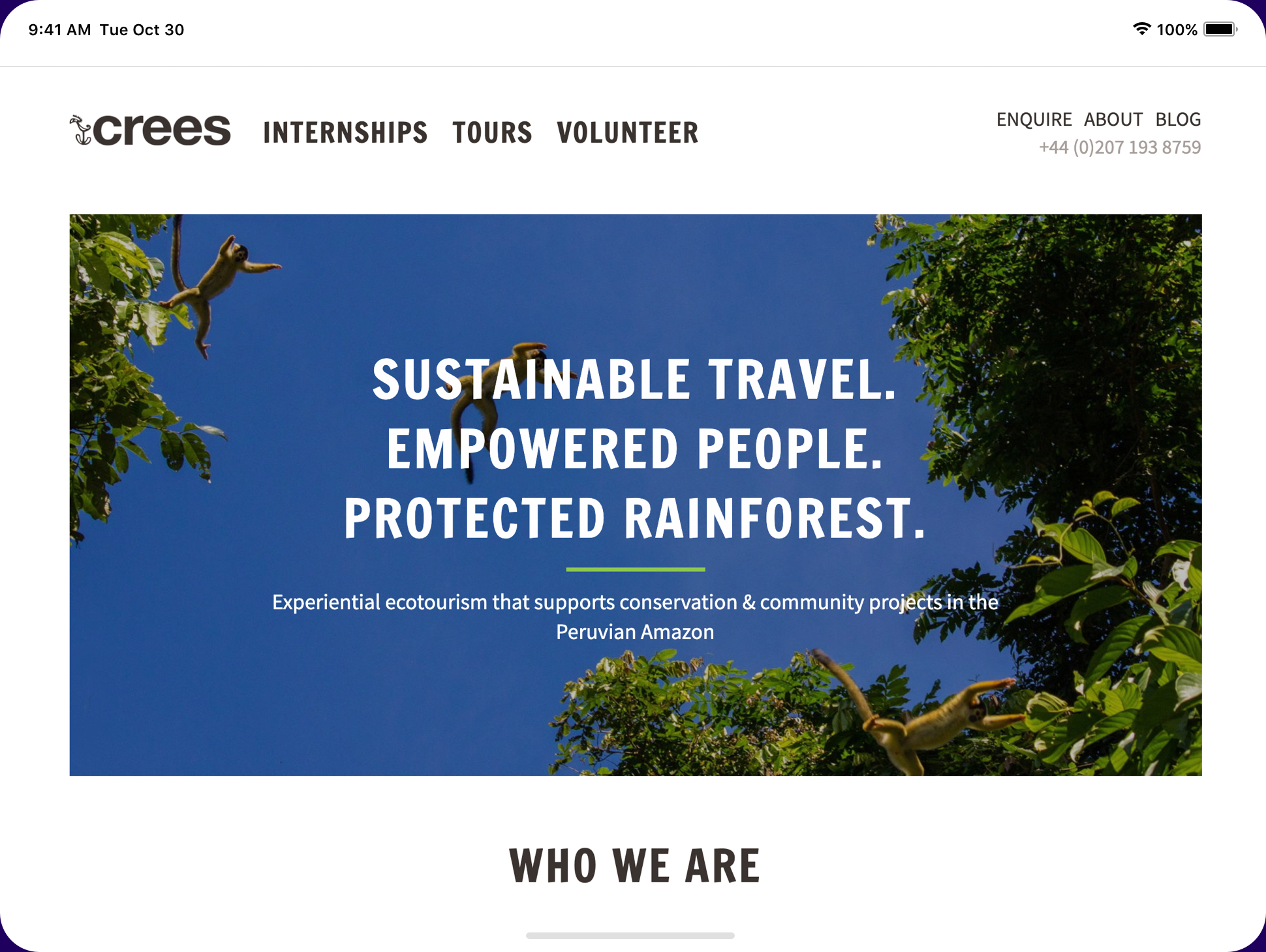 image of crees manu website
