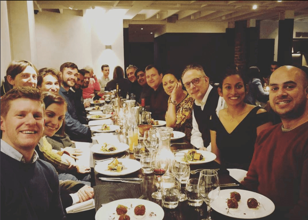 Wholegrain team at our Christmas meal
