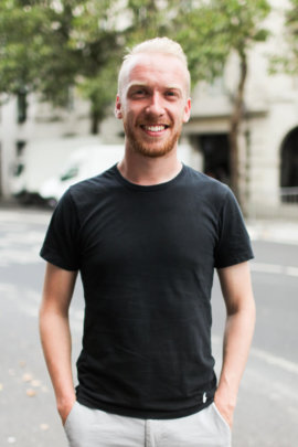 Image of Alex standing outside Somerset House