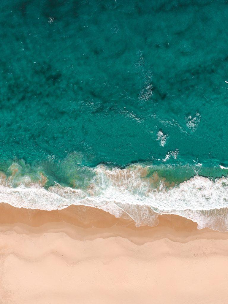 ocean image top view