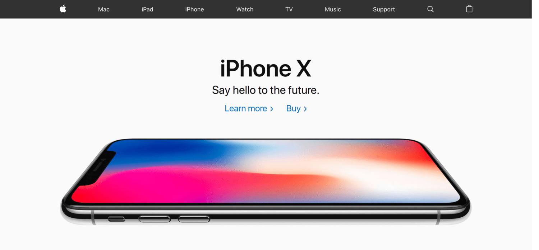 Screenshot of Apple.com (United Kingdom)