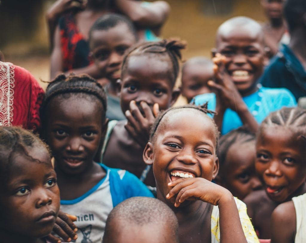 African children smiling