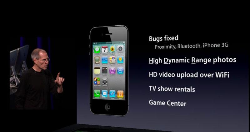 Steve Jobs presenting bug fixes to the iPhone