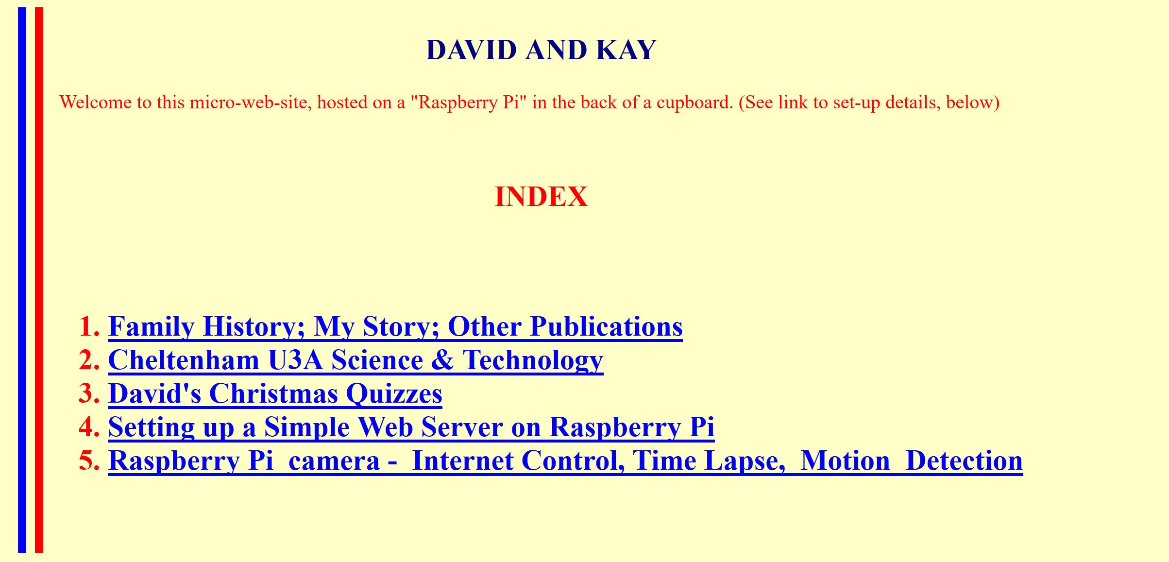 Screenshot of davidandkay.me.uk