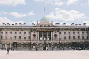 image of somerset house in London on a sunny day