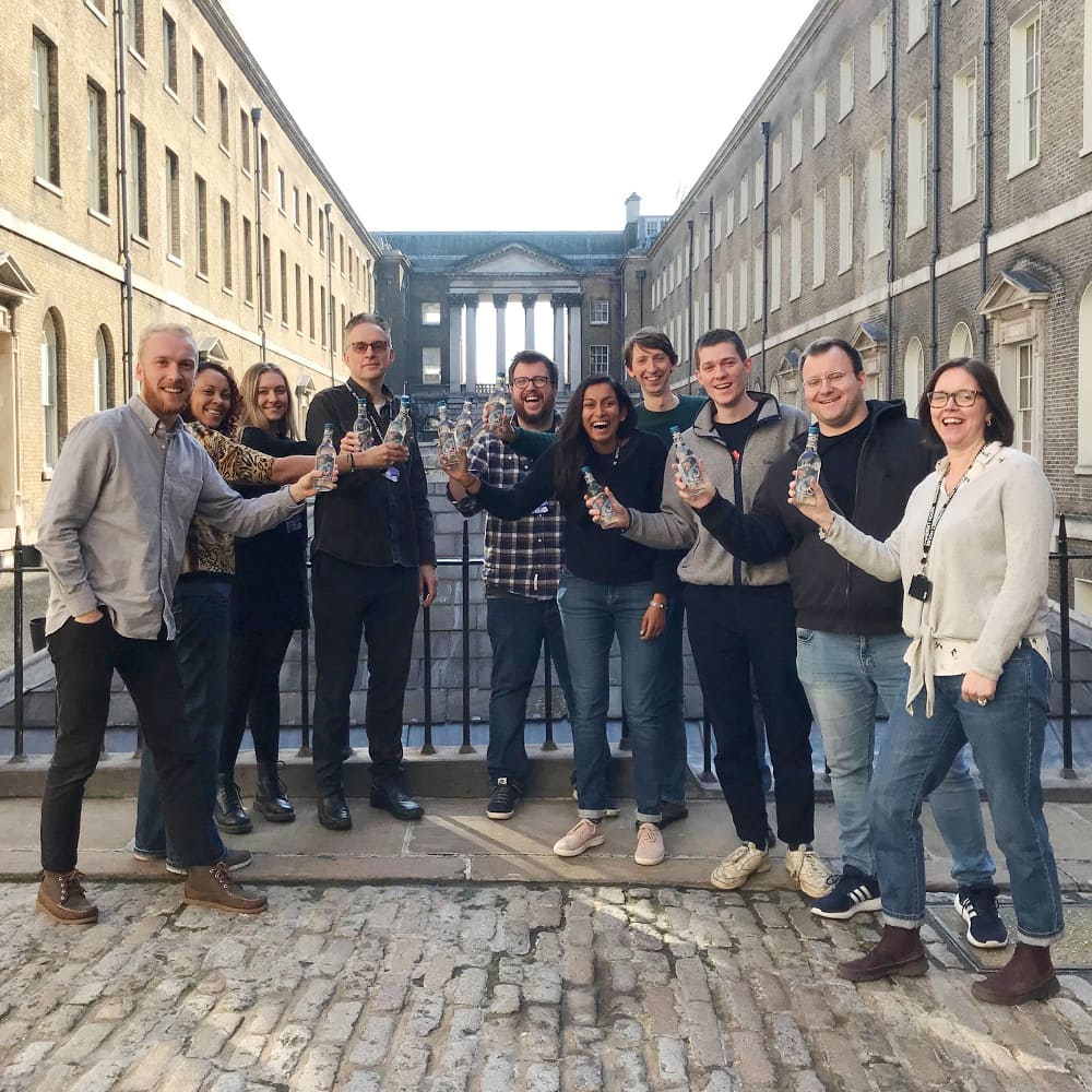 Wholegrain Digital team members standing together outside Somerset House
