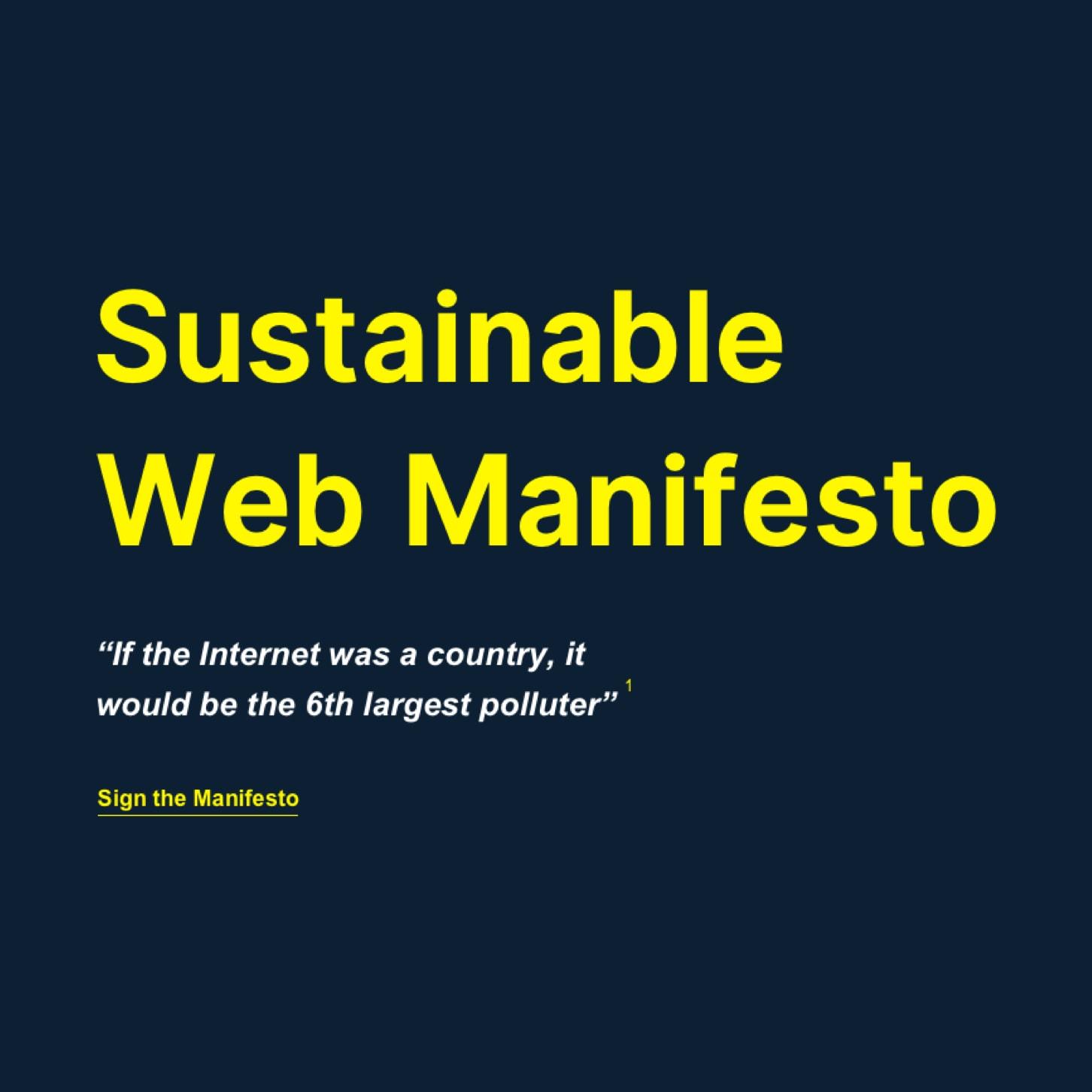 Screenshot of the sustainable web manifesto website