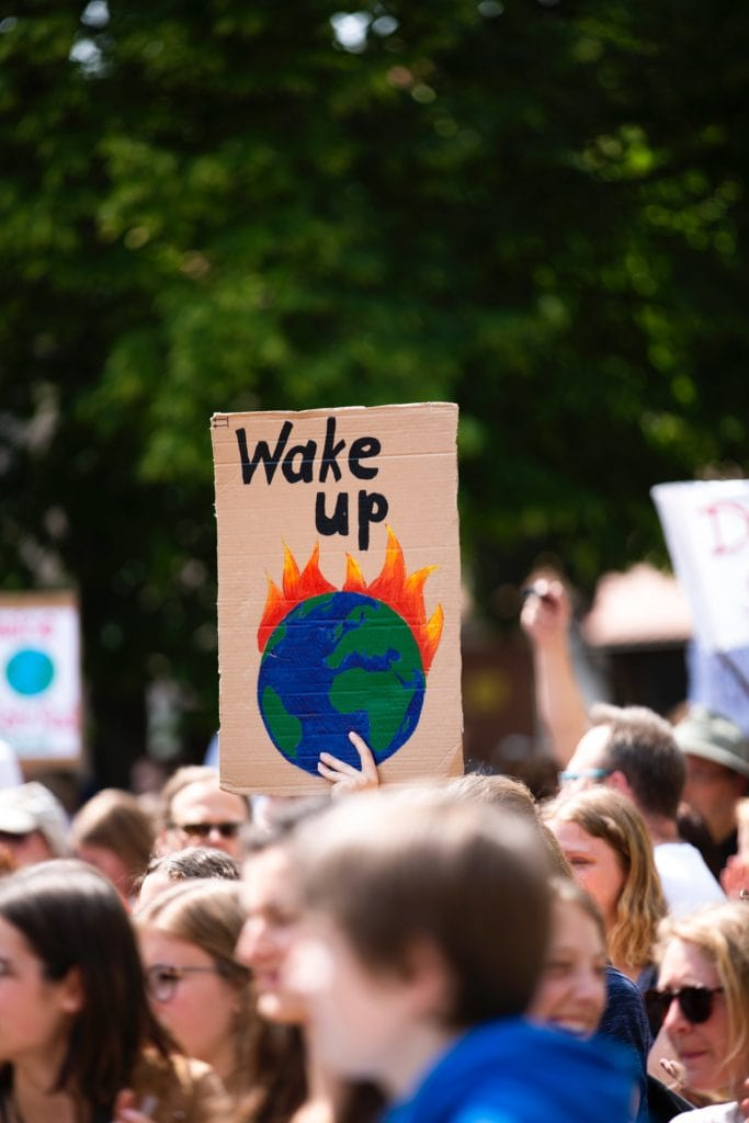protest - wake up the earth is on fire