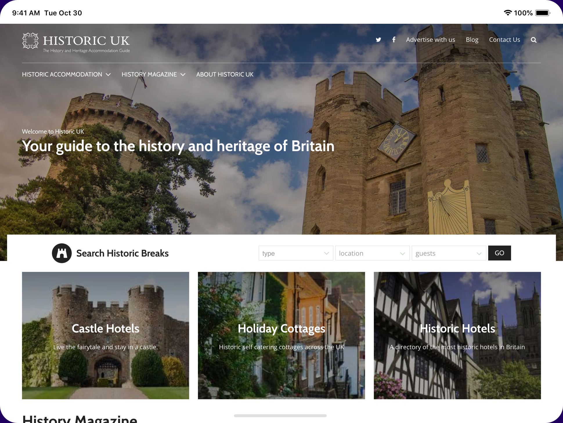 Historic Uk website