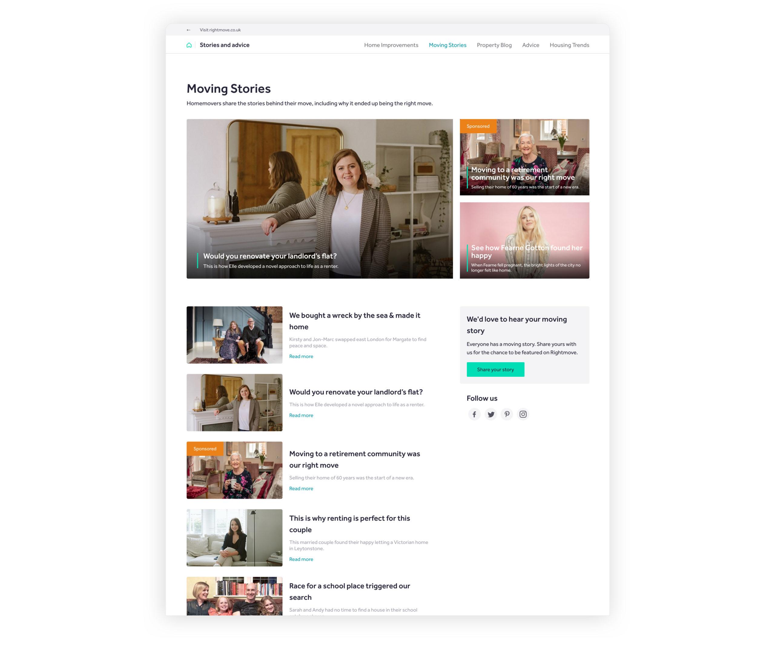 rightmove moving stories homepage screenshot