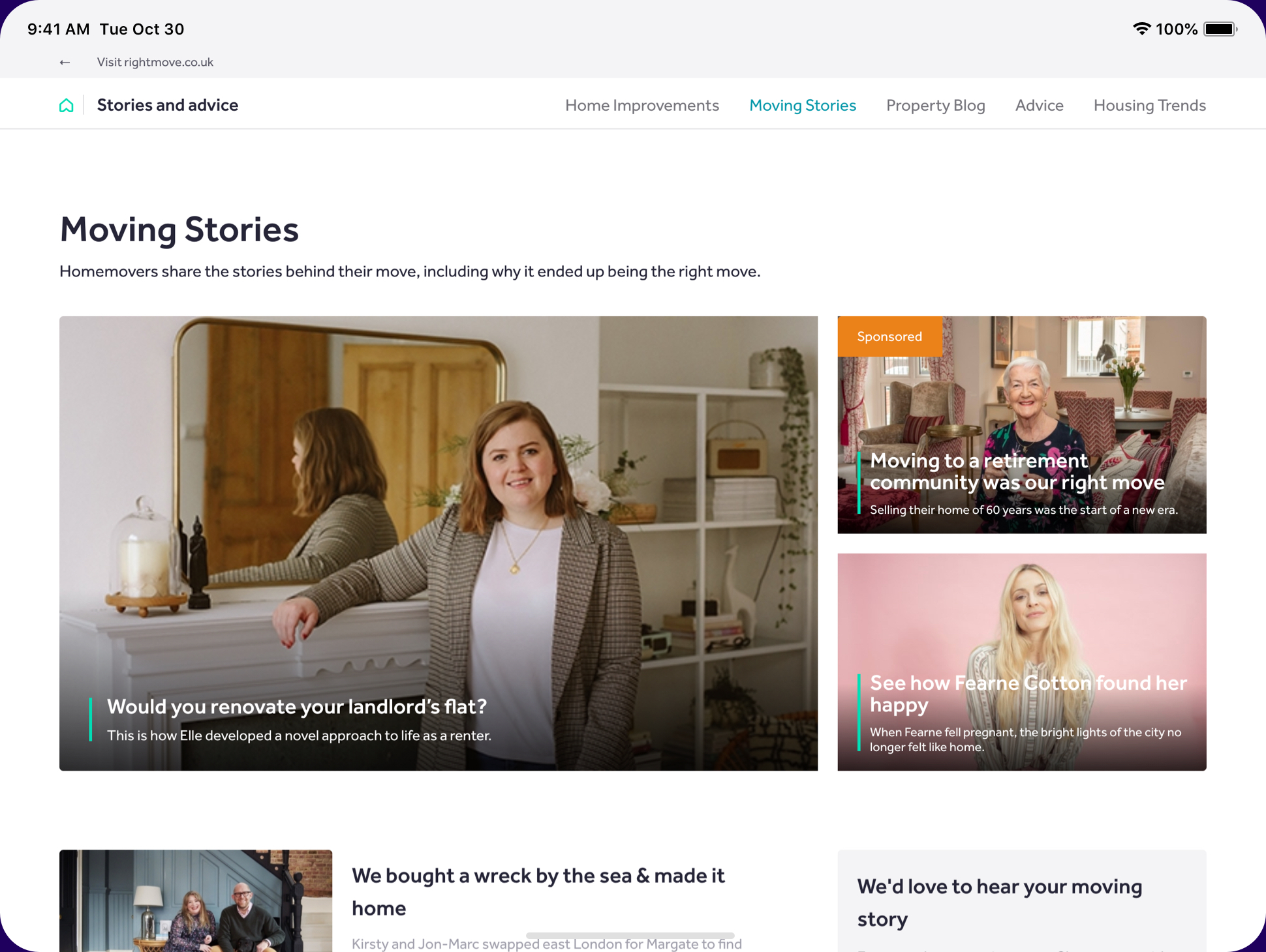 Moving Stories Rightmove