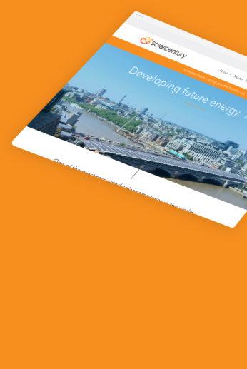 Redesign of Solarcentury's corporate (B2B) and consumer (B2C) websites