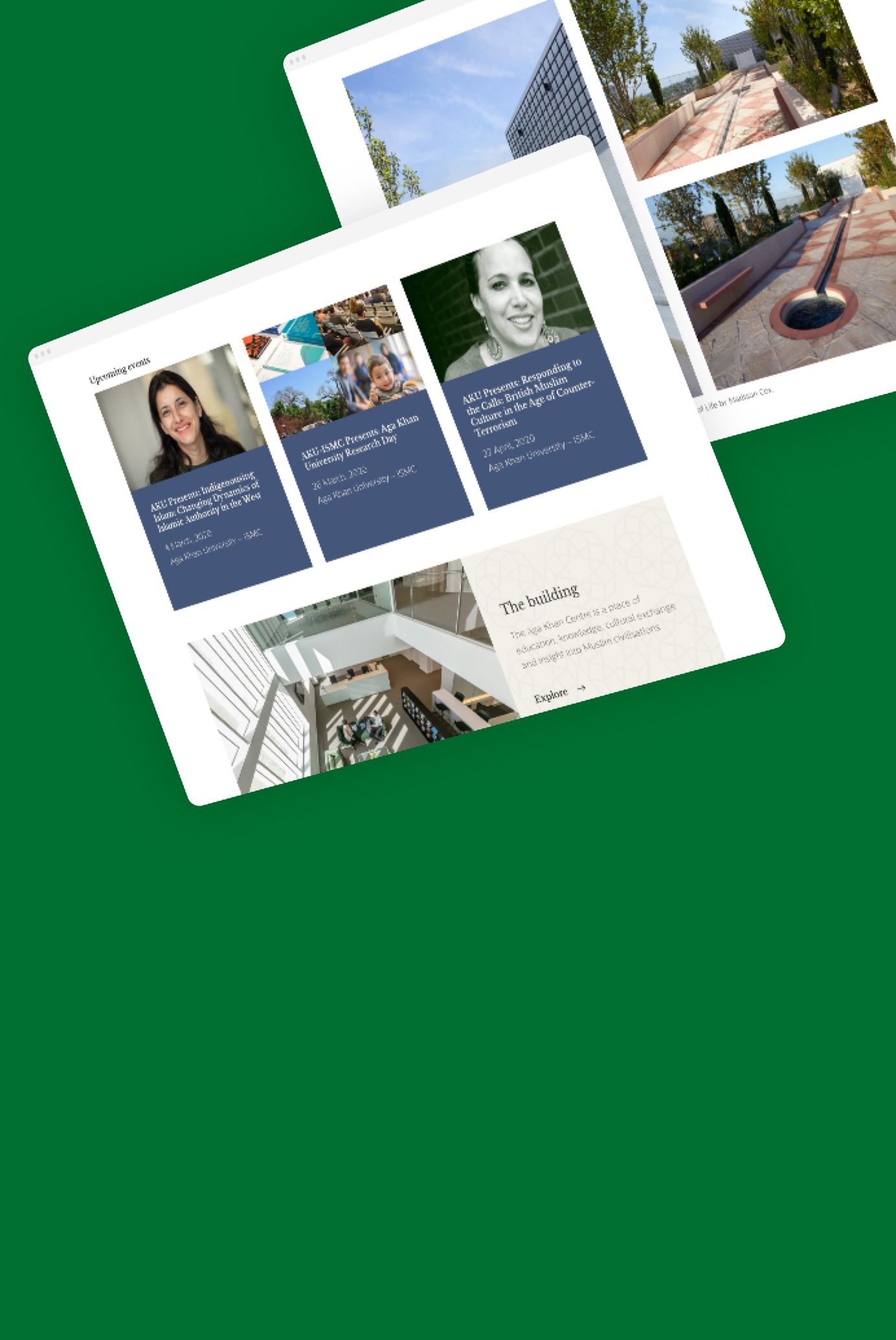 A welcoming website for an education centre in London