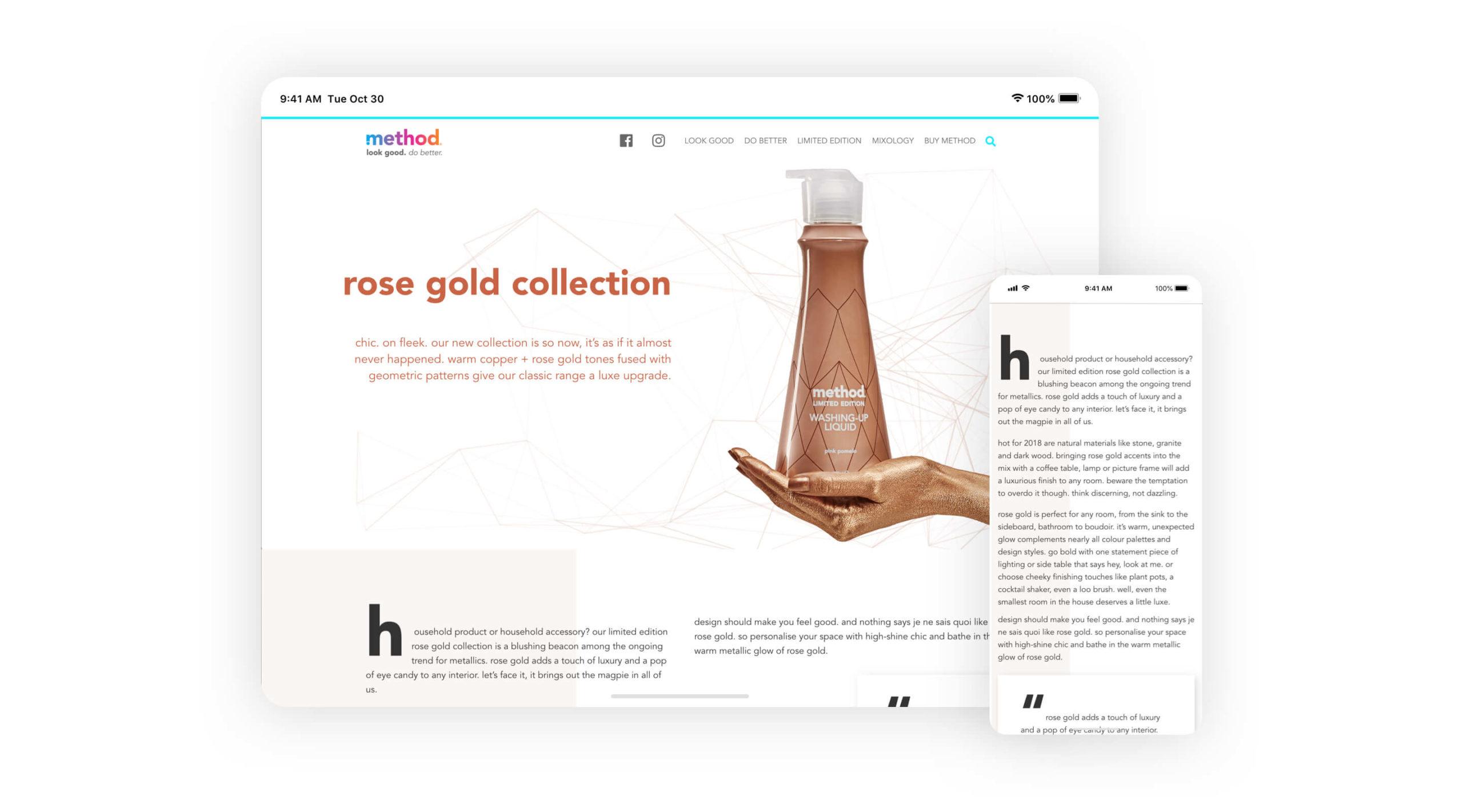 Method website screenshot