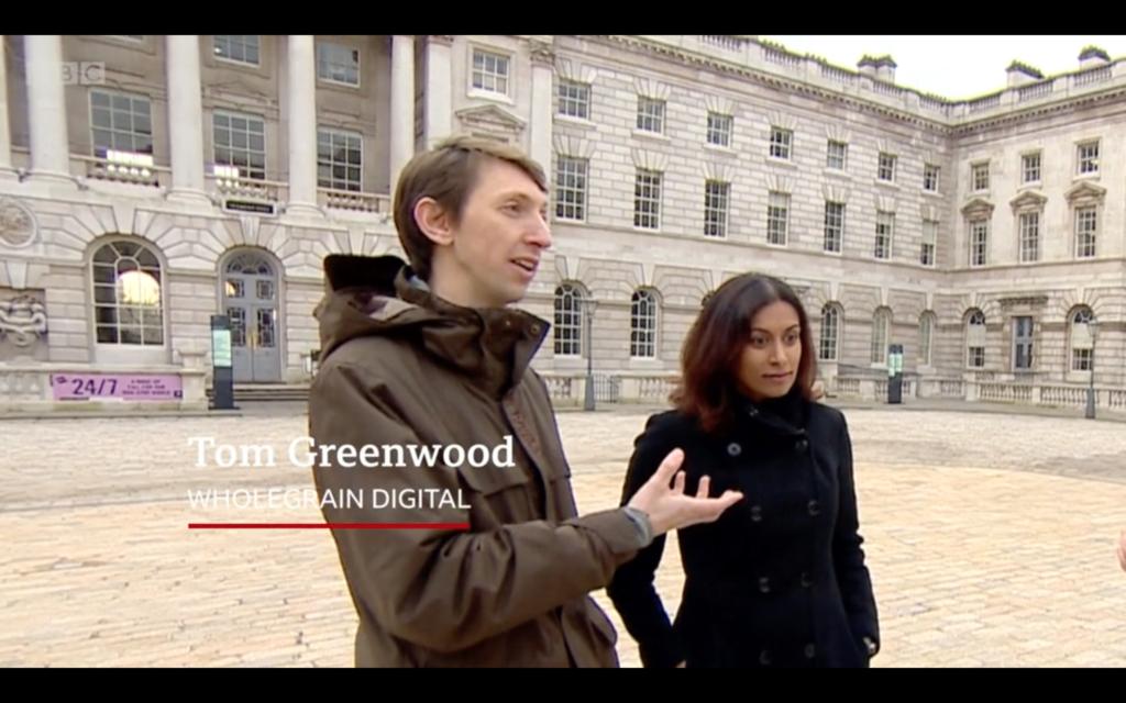 Tom speaking to the BBC politics live crew