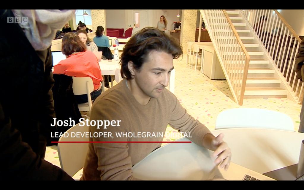 Josh speaking to the BBC politics live crew