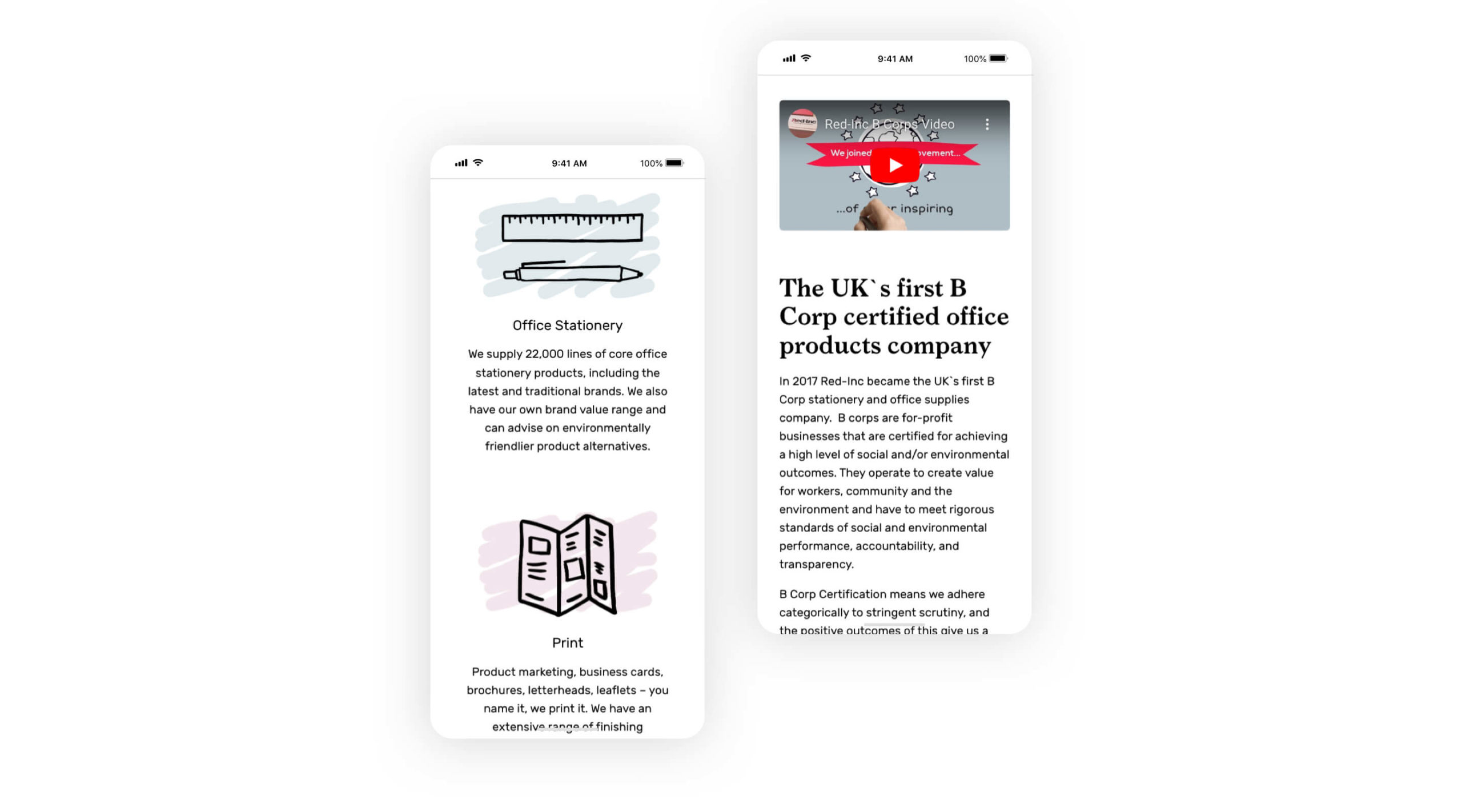 Red inc website in mobile
