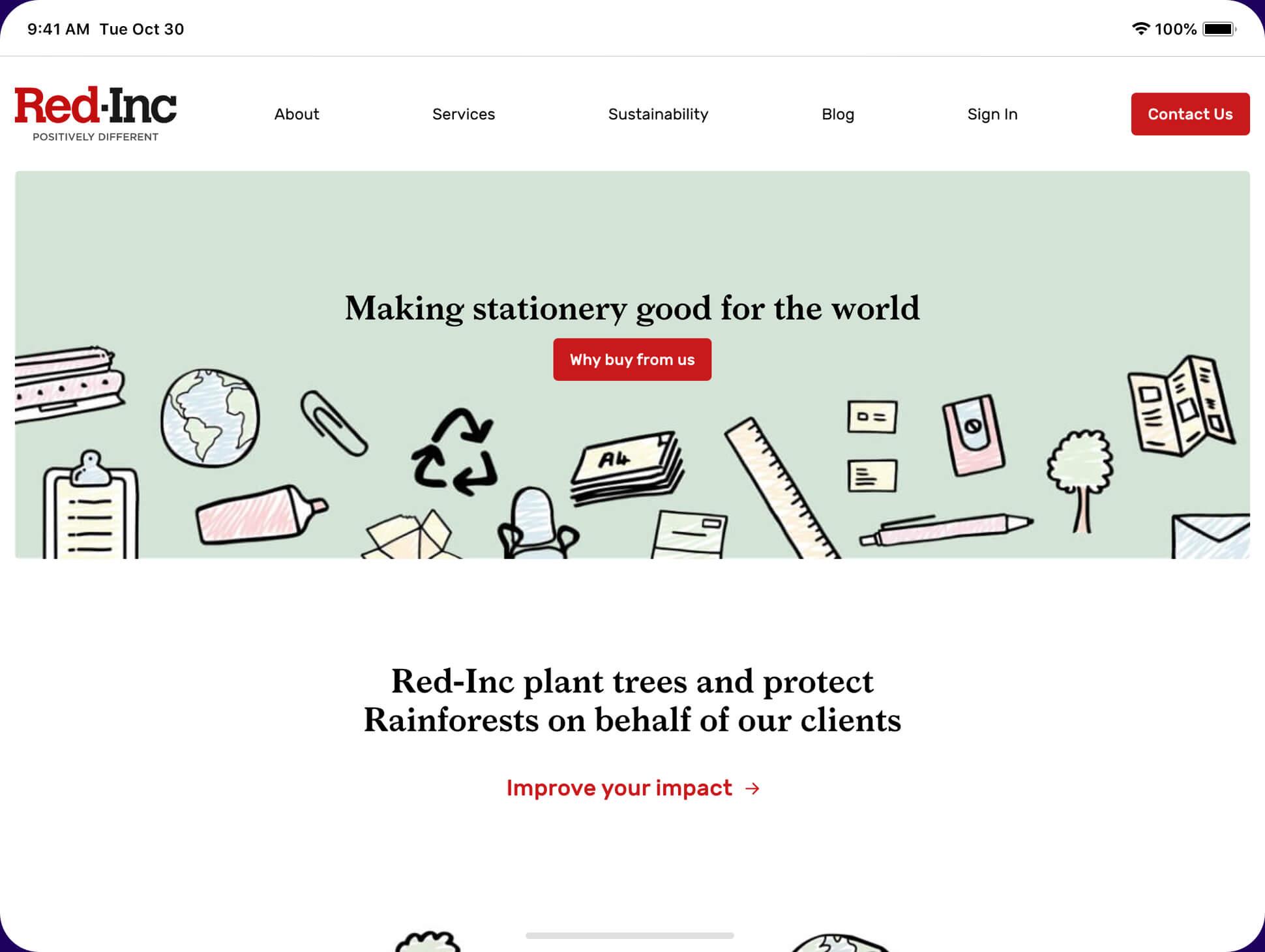 RedInc website screenshot