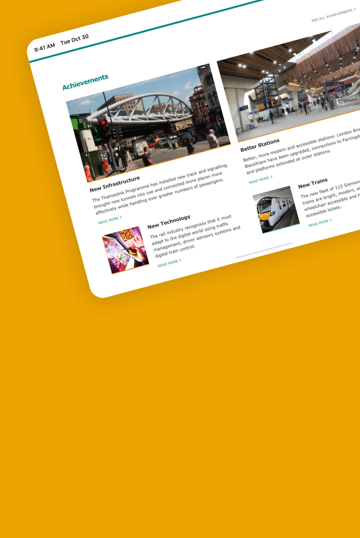 A learning legacy website for Thameslink Programme