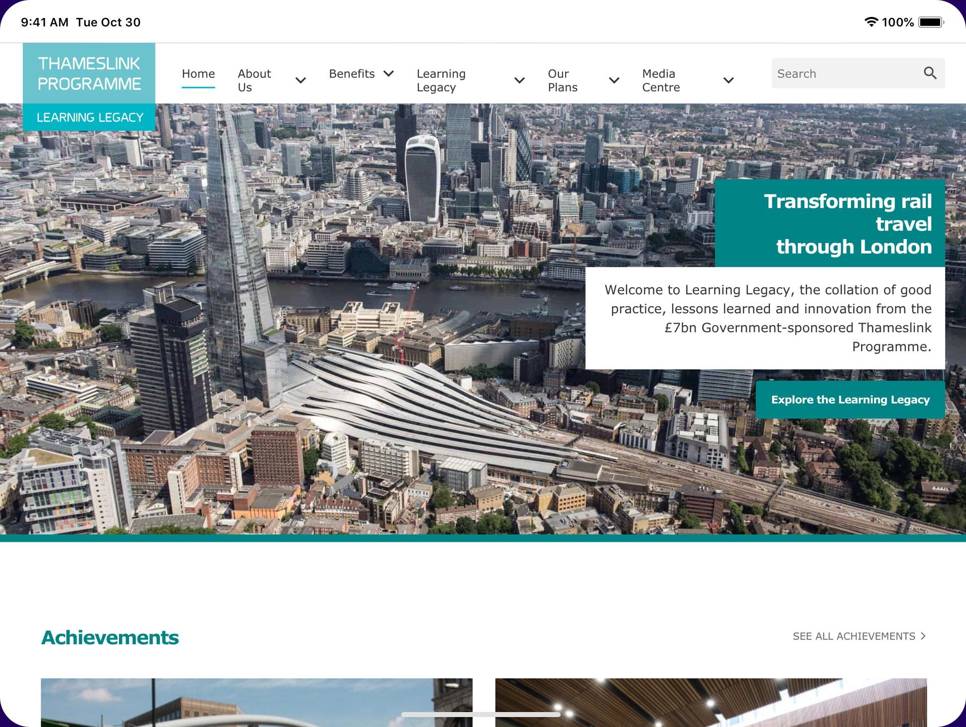 Thameslink website screenshot