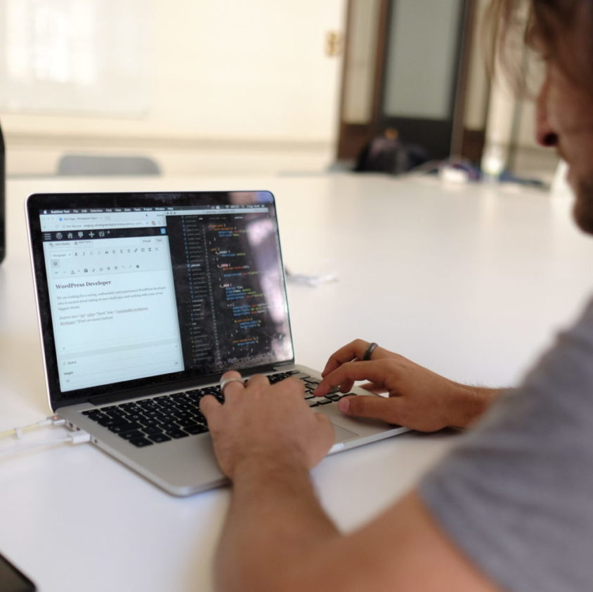 image of a developer coding