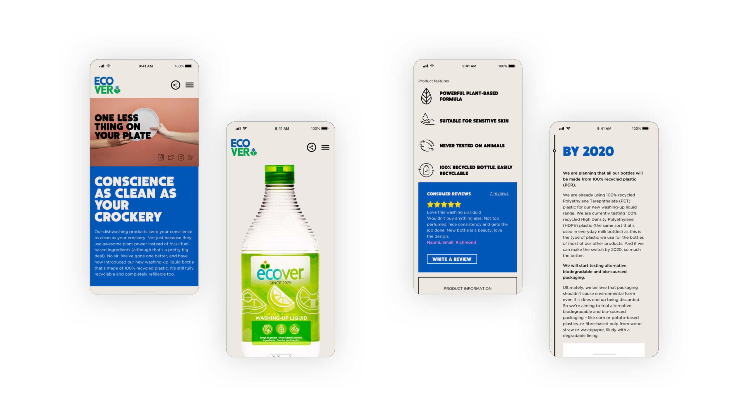Ecover mobile screenshot